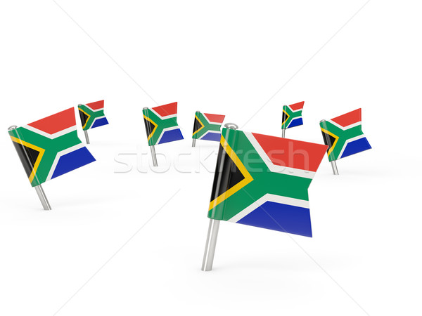 Square pins with flag of south africa Stock photo © MikhailMishchenko