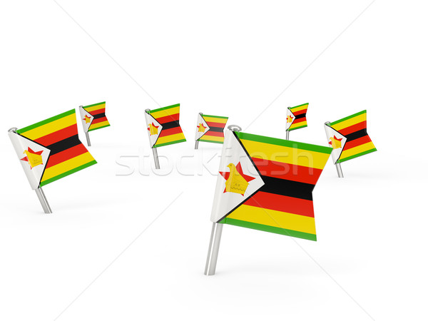 広場 フラグ ジンバブエ 孤立した 白 国 ストックフォト © MikhailMishchenko