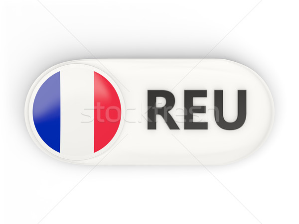 Round icon with flag of reunion Stock photo © MikhailMishchenko