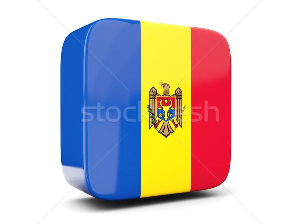 Tér ikon zászló Moldova 3d illusztráció izolált Stock fotó © MikhailMishchenko