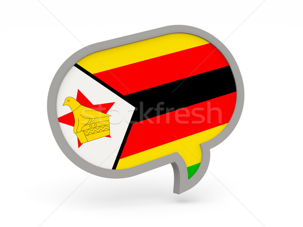 Chat icon with flag of zimbabwe Stock photo © MikhailMishchenko
