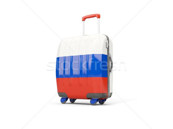 Luggage with flag of russia. Suitcase isolated on white Stock photo © MikhailMishchenko