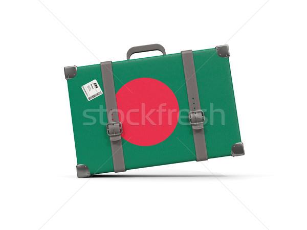 Bagage vlag Bangladesh koffer geïsoleerd witte Stockfoto © MikhailMishchenko