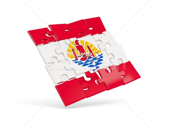 Stok fotoğraf: Bilmece · bayrak · fransız · polinezya · yalıtılmış · beyaz
