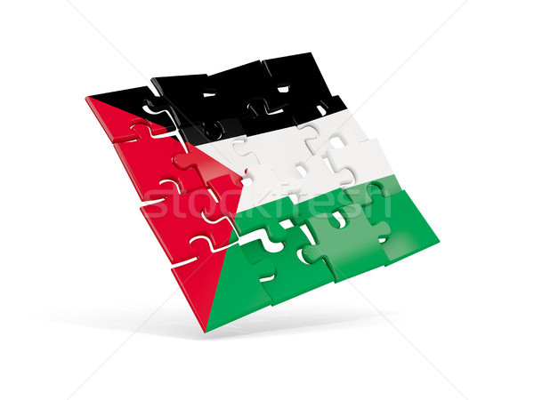 Puzzle flag of palestinian territory isolated on white Stock photo © MikhailMishchenko