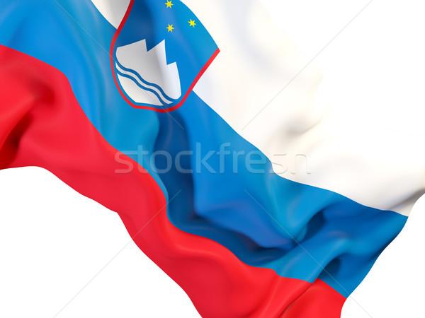 フラグ スロベニア クローズアップ 3次元の図 旅行 ストックフォト © MikhailMishchenko