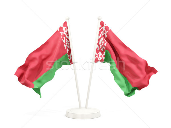Two waving flags of belarus Stock photo © MikhailMishchenko