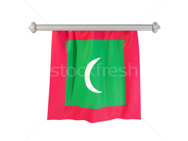 Pennant with flag of maldives Stock photo © MikhailMishchenko