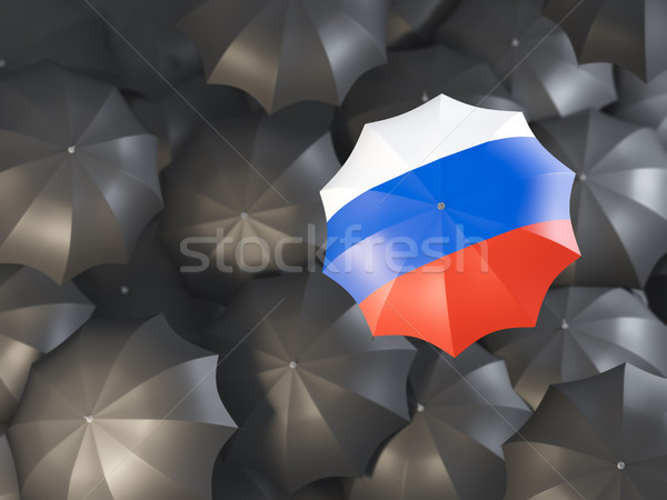 Stock photo: Umbrella with flag of russia