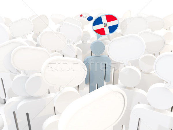 Man with flag of dominican republic in a crowd Stock photo © MikhailMishchenko