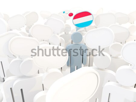 Man with flag of greece in a crowd Stock photo © MikhailMishchenko