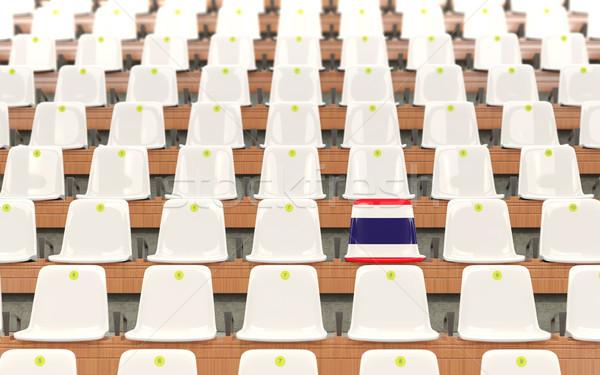 Stadyum koltuk bayrak Tayland beyaz Stok fotoğraf © MikhailMishchenko