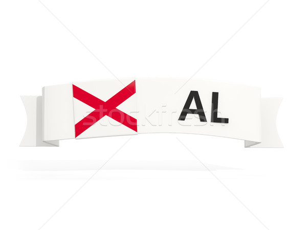 alabama state flag on banner with postal abbreviation isolated o Stock photo © MikhailMishchenko