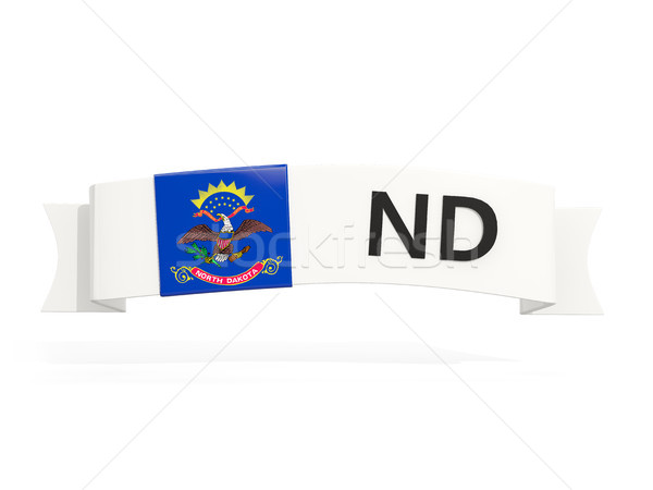 north dakota state flag on banner with postal abbreviation isola Stock photo © MikhailMishchenko