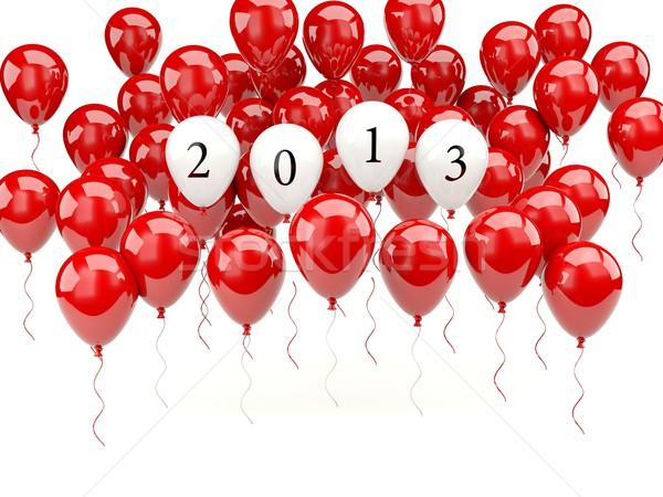 Photo stock: Air · ballons · 2013 · nouvelle · année · signe · ballon