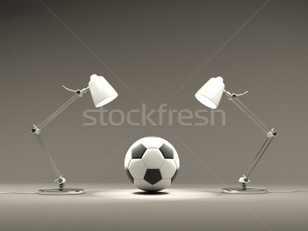 Football with lamps Stock photo © MikhailMishchenko