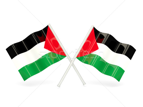 Flag of palestinian territory Stock photo © MikhailMishchenko