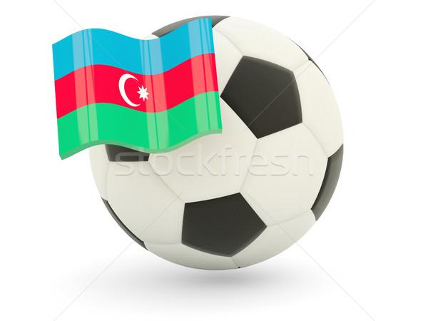 Futebol bandeira Azerbaijão isolado branco esportes Foto stock © MikhailMishchenko