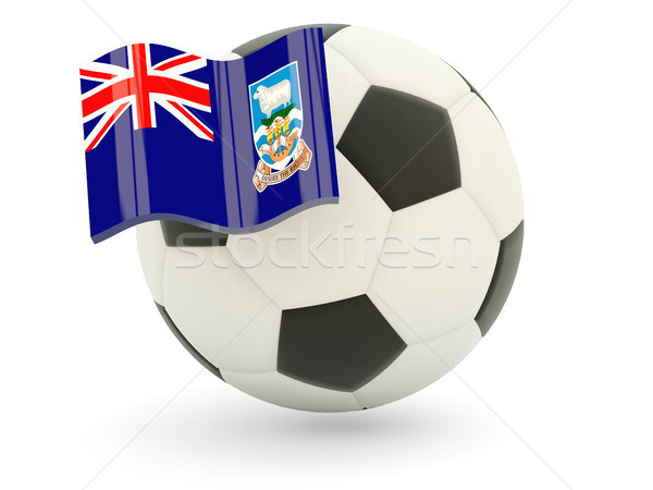 Futball zászló Falkland-szigetek izolált fehér sport Stock fotó © MikhailMishchenko