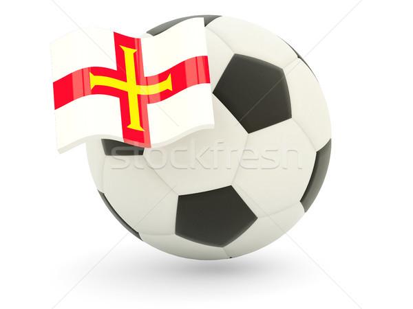 Football with flag of guernsey Stock photo © MikhailMishchenko