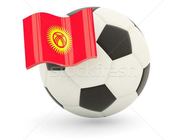 Futbol bayrak Kırgızistan yalıtılmış beyaz spor Stok fotoğraf © MikhailMishchenko
