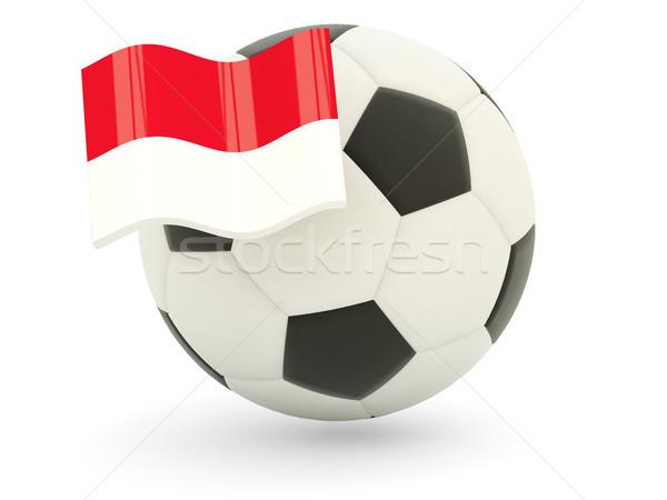 футбола флаг Монако изолированный белый спорт Сток-фото © MikhailMishchenko
