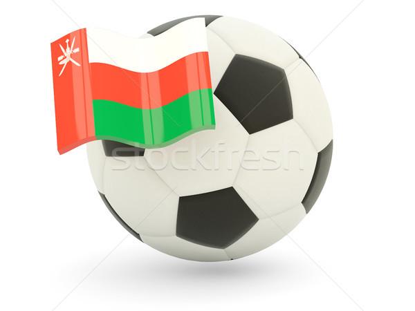 футбола флаг Оман изолированный белый спорт Сток-фото © MikhailMishchenko