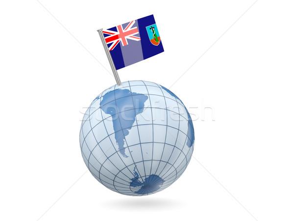Globe with flag of montserrat Stock photo © MikhailMishchenko