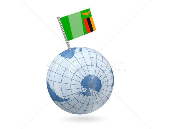 мира флаг Замбия синий изолированный белый Сток-фото © MikhailMishchenko