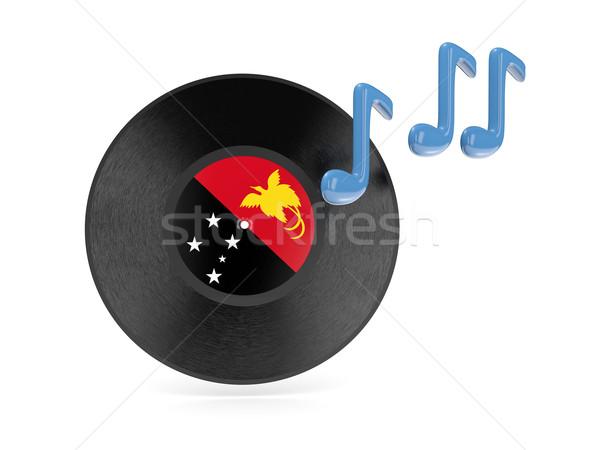 Vinyl disk with flag of papua new guinea Stock photo © MikhailMishchenko