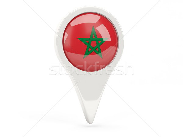 Round flag icon of morocco Stock photo © MikhailMishchenko