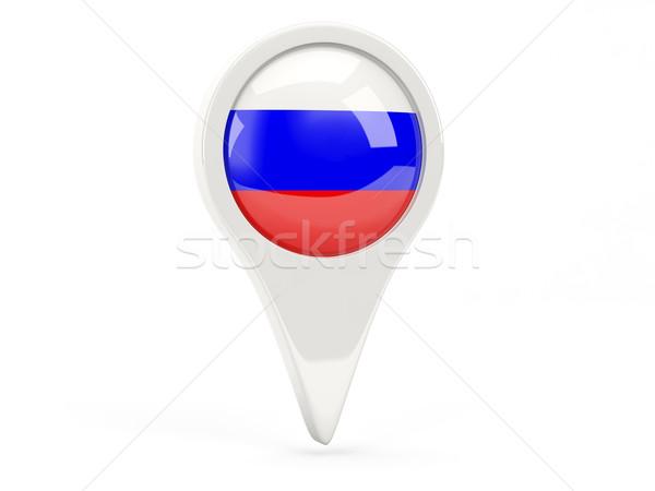 Bandera icono Rusia aislado blanco flecha Foto stock © MikhailMishchenko