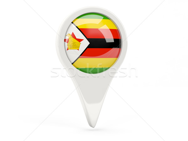 Round flag icon of zimbabwe Stock photo © MikhailMishchenko
