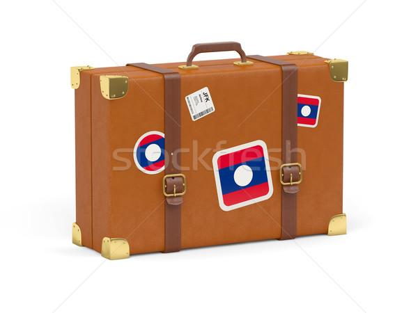 スーツケース フラグ ラオス 旅行 孤立した 白 ストックフォト © MikhailMishchenko