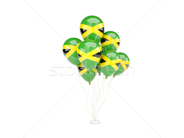 Flying balloons with flag of jamaica Stock photo © MikhailMishchenko