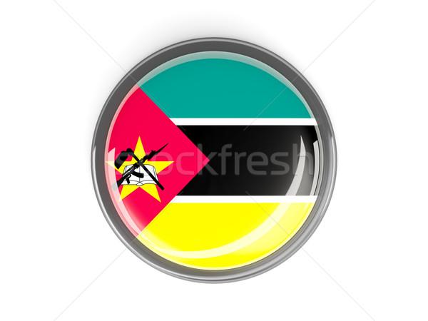 Round button with flag of mozambique Stock photo © MikhailMishchenko