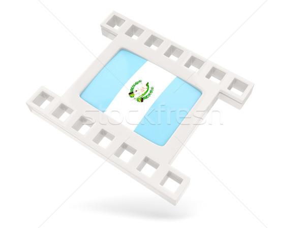 Filme ícone bandeira Guatemala isolado branco Foto stock © MikhailMishchenko