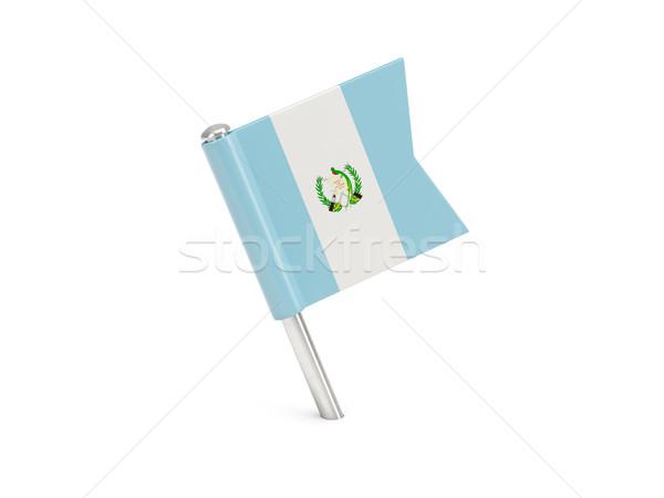 флаг Pin Гватемала изолированный белый Сток-фото © MikhailMishchenko