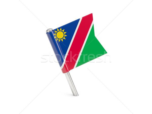 Bandeira pin Namíbia isolado branco Foto stock © MikhailMishchenko