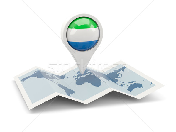Round pin with flag of sierra leone Stock photo © MikhailMishchenko
