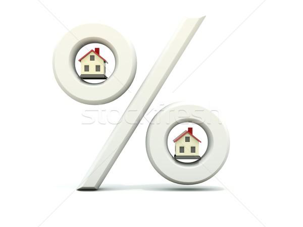 Home with percent symbol Stock photo © MikhailMishchenko