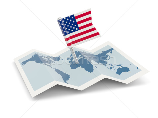 Map with flag of united states of america Stock photo © MikhailMishchenko