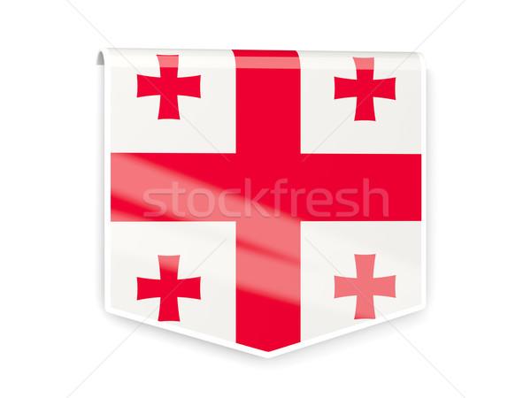 флаг Label Грузия изолированный белый знак Сток-фото © MikhailMishchenko