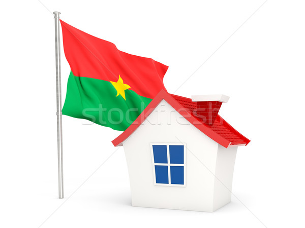 House with flag of burkina faso Stock photo © MikhailMishchenko