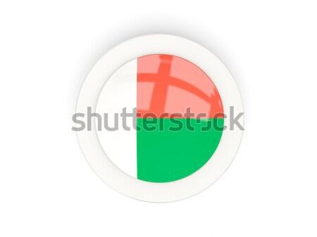 Round icon with flag of madagascar Stock photo © MikhailMishchenko