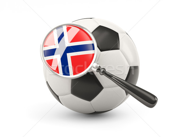 サッカー 拡大された フラグ ノルウェー 孤立した 白 ストックフォト © MikhailMishchenko