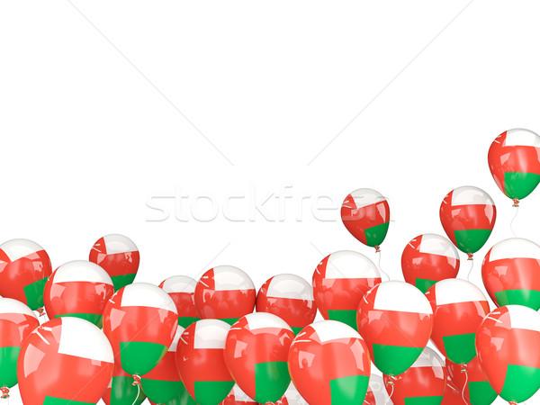 Uçan balonlar bayrak Umman yalıtılmış beyaz Stok fotoğraf © MikhailMishchenko