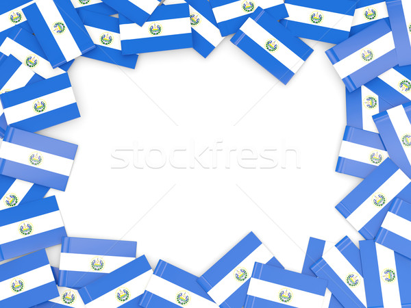 Frame with flag of el salvador Stock photo © MikhailMishchenko