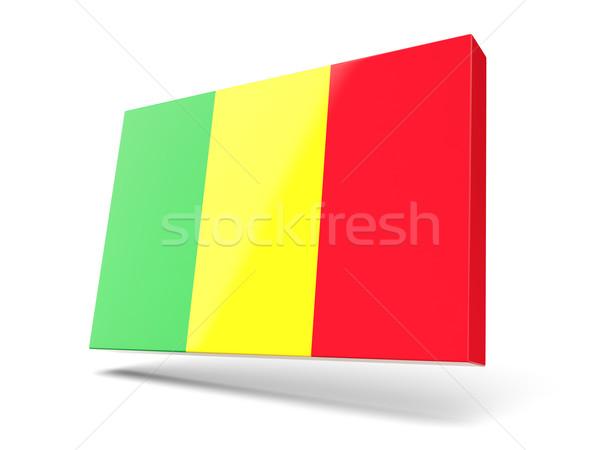 Kare ikon bayrak Mali yalıtılmış beyaz Stok fotoğraf © MikhailMishchenko