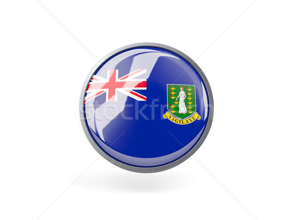 Icon vlag brits Virgin Islands metaal frame Stockfoto © MikhailMishchenko